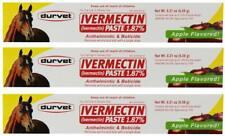 Durvet 3 Pack of Ivermectin Paste,0.21 Ounces each,Apple Flavored Horse Dewormer
