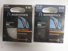 2 RODENSTOCK UV MC & HR DIGITAL CIRCUAR POLARIZER 55mm filter
