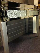 SPECCHIO schiacciato/Crackled VETRO 2 cassetti console/Credenza