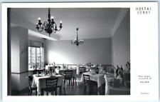 RPPC  MALAGA, SPAIN   Interior Dining Room  HOSTAL DERBY   Postcard