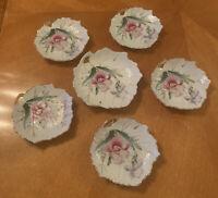 Vintage Nasco Leaf Plates Tea Bag Rest Or Trinket Dishes Made In Japan Lot Of 6