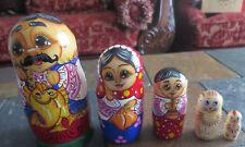 Russian Nesting Matryoshka Doll Family Fish cat dog