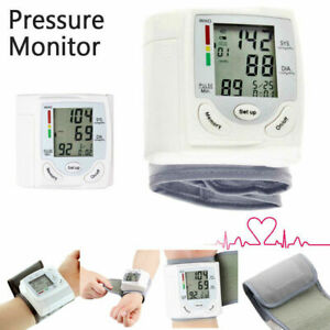 Automatic Digital Wrist Blood Pressure Monitor Heart Beat Rate Pulse BP Measure