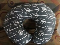 Boppy pillow cover Dark Gray W/ White Arrows Print Also Take Orders #1 Seller