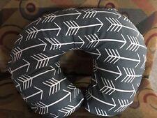 Boppy pillow cover Dark Gray W/ White Arrows Print Also Take Orders #1 Seller