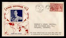 DR WHO 1937 CANADA FDC CORONATION KING GEORGE VI  C244321