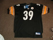 WILLIE PARKER #39 PITTSBURGH STEELERS BLACK AUTHENTIC FOOTBALL JERSEY sz 54 NWT