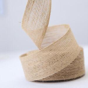 10M Wedding Natural Jute Burlap Hessian Ribbon Party Packing Supplies Decor DIY