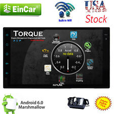 "US Andriod 6.0 Double 2Din 7"" Car Stereo GPS Radio WiFi 3G Mirror DVD Player CAM"