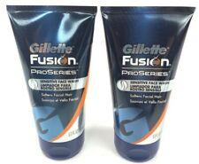 Gillette Fusion ProSeries Sensitive Face Wash 5 Oz 2 Pack Set Lot New Mens Gift