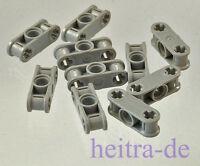 LEGO Technik - 10 x Verbinder 1x3 hellgrau / 2 x Achsloch 1 x Loch 32184 NEUWARE