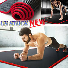 10mm Thick Non-slip Yoga Mat Pilates Fitness Exercise Fitness Mat Camping Straps