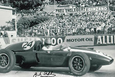 Jack Brabham Hand Signed Cooper-Climax T51 F1 12x8 Photo