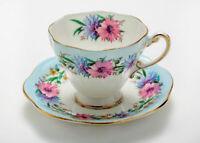 Beautiful FOLEY CORNFLOWER 1850 fine bone China DEMITASSE Cup & Saucer