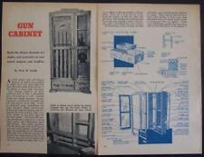 Gun Trophy Cabinet Locking Display Case How-To Build PLANS 5 rifles