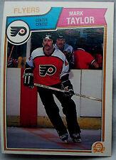 1983-84 OPC o-pee-chee Mark Taylor Flyers lot of 2 Hockey Cards
