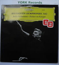 DG 138 801 - BEETHOVEN - Symphony No 1 & 2 - KARAJAN BPO - Ex Con LP Record
