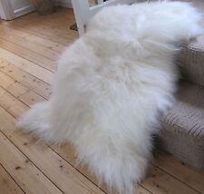 GENUINE ICELANDIC SHEEPSKIN Rug XL 110cm! 15cm HAIR!
