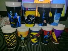 BATMAN 1989 MOVIE CUPS 9 COMPLETE set complete vintage pepsi RARE DC HEROES
