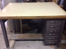 Adjustable Top Mayline Steel Drafting Table Desk with Drawers Pick Item Only