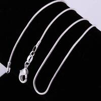 "Wholesale 10pcs 925 Sterling Silver Plated 1mm Snake Chain Necklace 16""-24"""