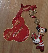 Disney Store Mickey Mouse presente Ornamento de árbol de Navidad Decoración Adorno