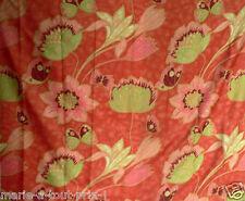 Coupon tissu de déco ameublement haut de gamme 118 x 142cm papillons orange vert