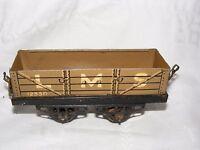 MECCANO HORNBY TRAIN WAGON LMS 12530 'O' GAUGE FOR CLOCKWORK  TIN PLATE KHAKI