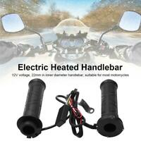12V Adjustable Electric Heated Warm Handle Grips For 22mm Motorcycle Handlebar