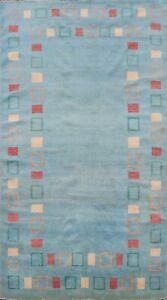 Bordered Gabbeh Kashkoli Oriental Area Rug Hand-knotted Contemporary 5x8 Carpet