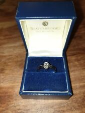 Engagement Ring - Platinum rub-over 0.40ct oval cut diamond solitaire RRP £2500