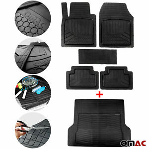 For Jeep Waterproof Rubber 3D Molded Floor Mats & Cargo Liner Protection SET