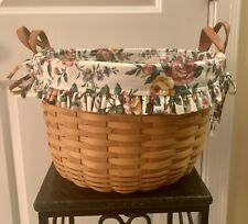 Longaberger Hostess Wildflower Basket with Liner & Protector Combo