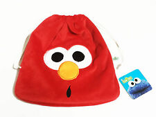 Elmo Plush Red Drawstring Bag NWT Sesame Street #001