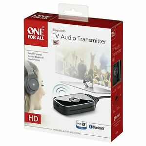 One For All SV1770 Bluetooth TV Audio Transmitter|USB Power|3.5 mm Cable|Black|