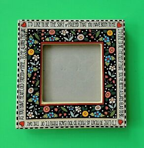Mary Engelbreit Ceramic Frame by Charpente Edgar Guest Quote Flowers Hearts 1995