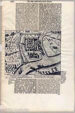 Duisburg - Ruhrort - Roerort - Kupferstich Baudartius um 1625