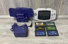Nintendo Game Boy Advance Mario Crash Bundle (NEW Power Rumble FX) White Lot