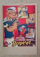 Carte postale Popeye Festival de dessins animés 1950 la mémoire du cinéma