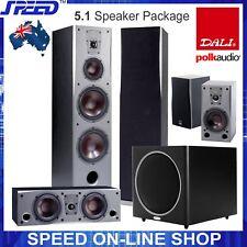 "DALI CONCEPT 8 Speakers Package + Polk Audio PSW125 12"" Subwoofer - Black Ash"