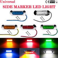 2/4/10X 4 LED 12V 24V TAIL SIDE LIGHT MARKER LAMP CHROME BEZEL CAR TRUCK TRAILEI