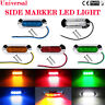 2/4/10X 4 LED 12V 24V TAIL SIDE LIGHT MARKER LAMP CHROME BEZEL CAR TRUCK TRAILEI