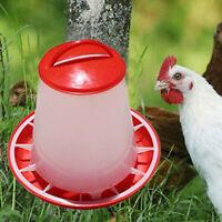 Portable-Bucket Plastic 1.5L Chicken Poultry Feeder Drink Water Food Bird Quail
