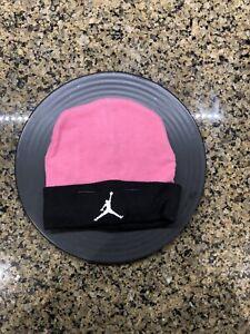 Baby Jordan Jumpman Pink and Black Beanie