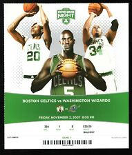 November 2, 2007 Boston Celtics & Washington Wizards Opening Night Full Ticket