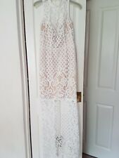 Coast Izzy Lace Maxi Dress Size 8 Ivory