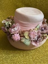 New listing vintage womans Springtime Straw hat: Sue Lee By Irving/ Diameter Is 6 1/2�