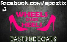 Wheels over Heels vinyl bumper sticker decal Honda import jdm euro si ek eg em2