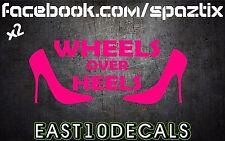 Wheels over Heels vinyl bumper sticker decal Honda import jdm euro si ek eg em2