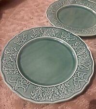 """Bordallo Pinheiro Hen & Rooster 10 5/8""""  Dinner Plate"""